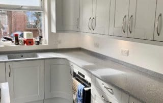 Platinum Corian worksurfaces