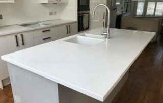 light ash corian island and counter tops