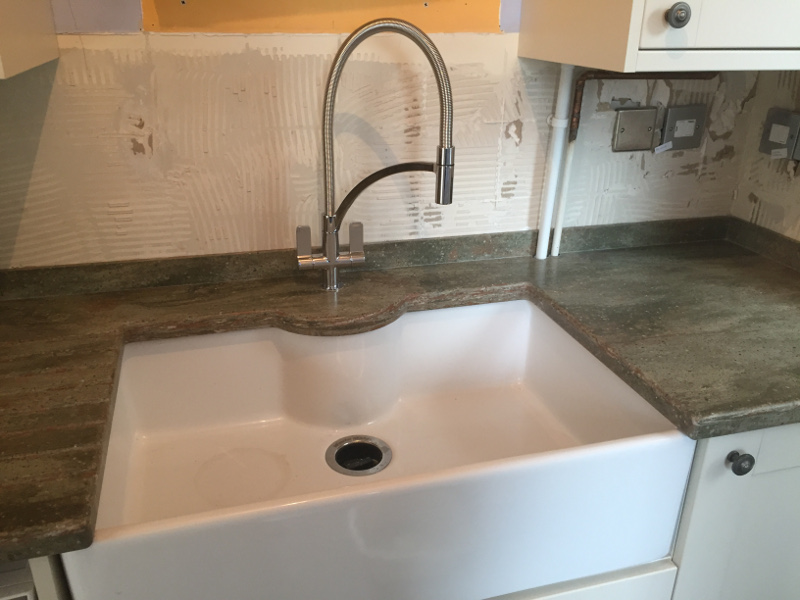 Rosemary Corian Worktops And Sink Installed Reading