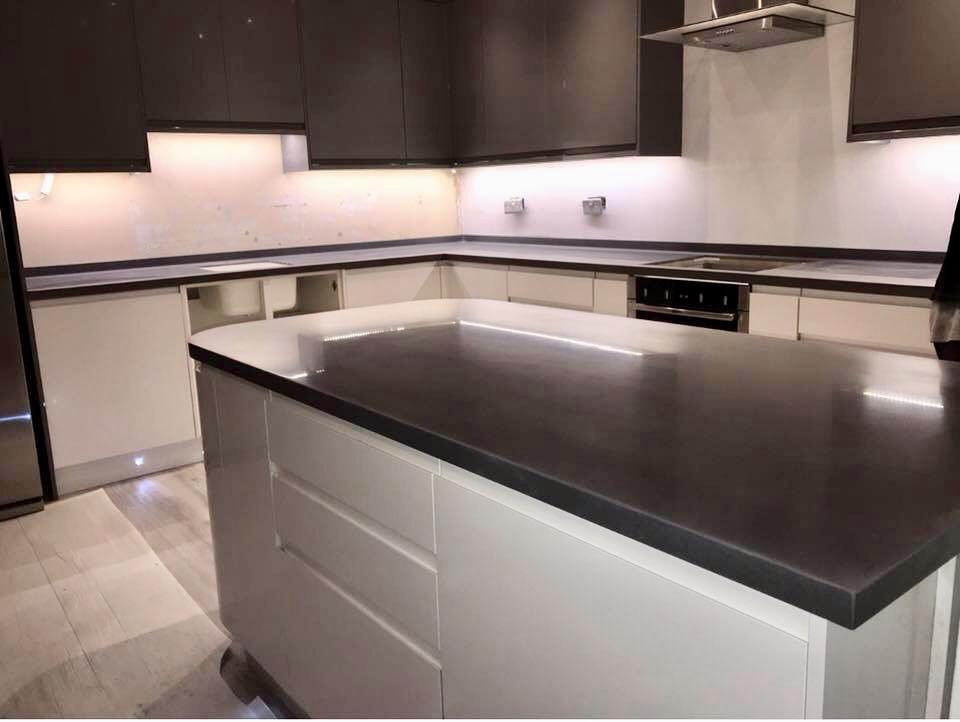Staron Sanded Tundra Kitchen Worktop Solid Surface