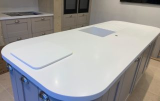 Corian Island and worktops installed Wiltshire