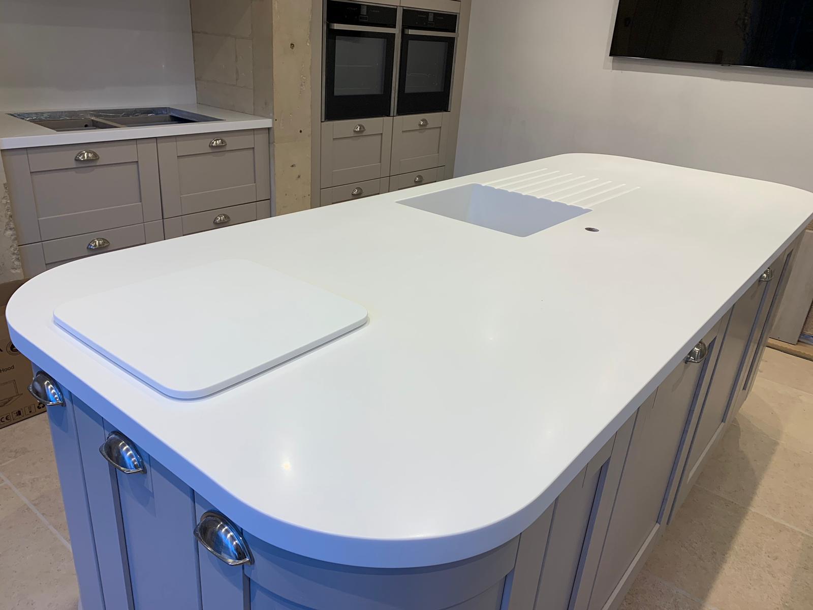 Corian Island and worktops installed Wiltshire