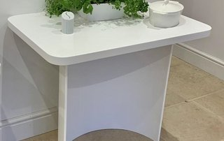 Corian side table