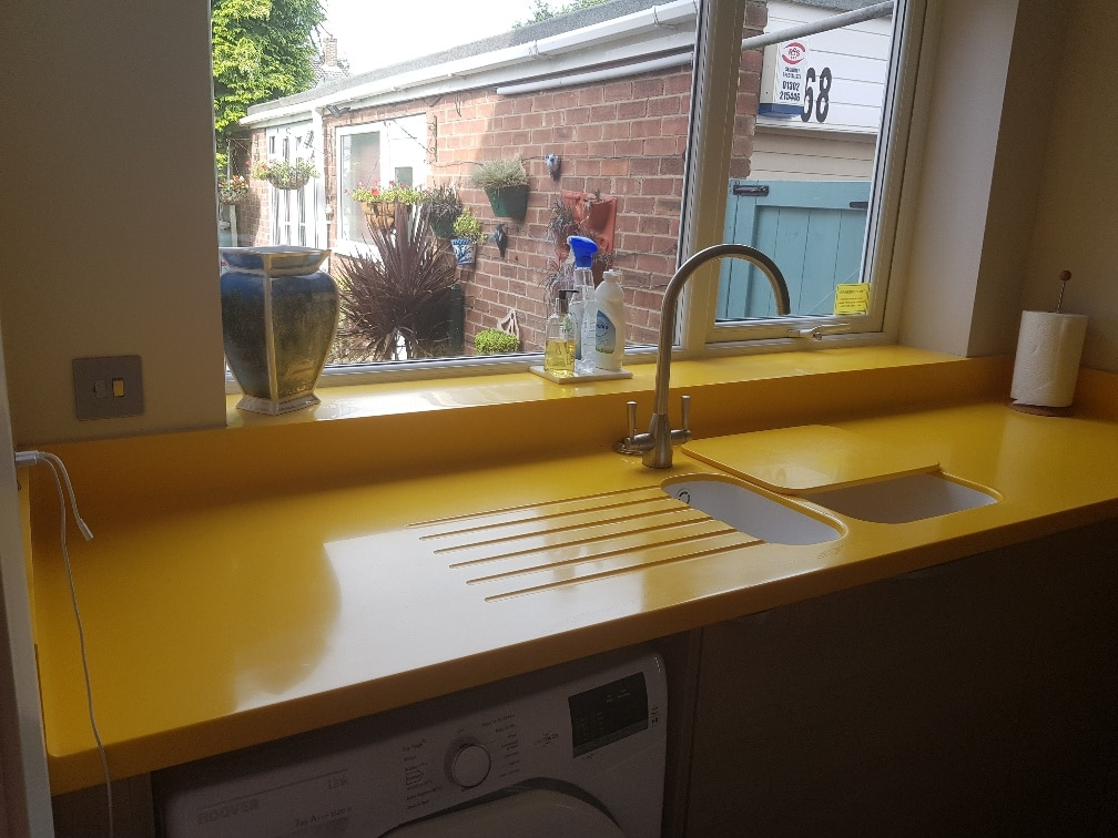 Corian Worktops in Imperial Yello