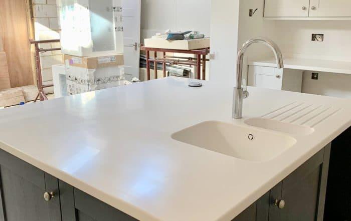 Tristone Snow Pearl worktops